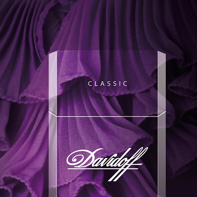 Davidoff Slims Cigarettes - Limited Fashion Edition by Luisa Beccaria